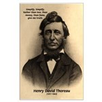 Henry David Thoreau Large Poster