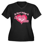 Emmett Cullen Heart Women's Plus Size V-Neck Dark 