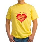 Heart Belongs Twilight Yellow T-Shirt