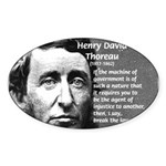 Philosophy / Nature: Thoreau Oval Sticker