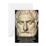 Greek Philosophy: Thales Greeting Cards (Package o