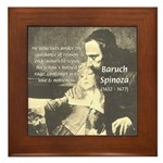 Rationalist Baruch Spinoza Framed Tile