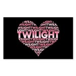 Twilight Heart Rectangle Sticker