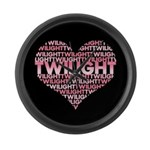Twilight Heart Large Wall Clock