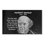 Herbert Spencer Rectangle Sticker