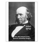 Evolutionist Herbert Spencer Small Poster