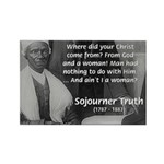Lincoln with Sojourner Truth Rectangle Magnet