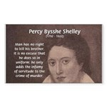 Writer Percy Bysshe Shelley Rectangle Sticker