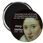"Romantic Writer: Percy Shelley 2.25"" Magnet (10 pa"