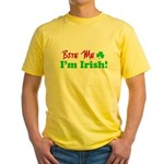 Bite Me I'm Irish Yellow T-Shirt