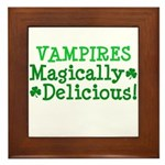Vampires Magically Delicious Framed Tile
