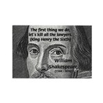 William Shakespeare Rectangle Magnet