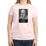 William Shakespeare Women's Pink T-Shirt