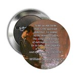 "Hamlet Famous Soliloquy 2.25"" Button (100 pack)"