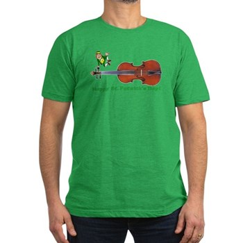 St Patrick's Day Leprechaun and Fiddle Shirt