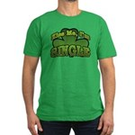 Kiss Me I'm Single Shamrock Men's Fitted T-Shirt (