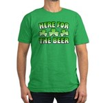 Here for the Beer Shamrock Men's Fitted T-Shirt (d