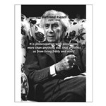 Bertrand Russell Philosophy Small Poster
