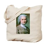 Philosopher Rousseau Tote Bag