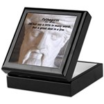 Greek Mathematician Pythagoras Keepsake Box