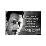 Novelist George Orwell Rectangle Magnet (100 pack)