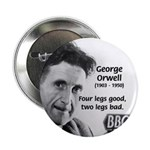 "Modern Fable Writer Orwell 2.25"" Button (10 pack)"
