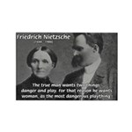 Man and Woman: Nietzsche Rectangle Magnet