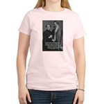 Man and Woman: Nietzsche Women's Pink T-Shirt