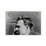 Vanity God and Nietzsche Rectangle Magnet (10 pack