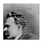 Vanity God and Nietzsche Tile Coaster
