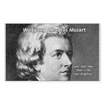 Music, Genius and Mozart Rectangle Sticker