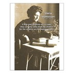 Maria Montessori Education Small Poster