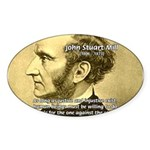 Utilitarianism John Mill Oval Sticker