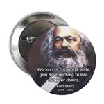 Union of Workers: Marx Button