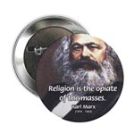 "Karl Marx Religion Opiate Masses 2.25"" Button (10"