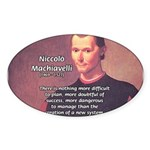 Political Theory: Machiavelli Oval Sticker