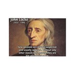Change and John Locke Rectangle Magnet (100 pack)