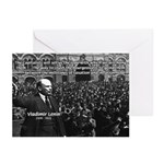 Vladimir Lenin Revolution Greeting Cards (Package