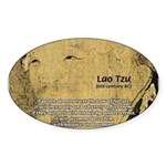Law of Nature: Lao Tzu Oval Sticker