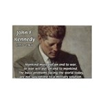 Man / War John F. Kennedy Rectangle Magnet