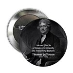 "President Thomas Jefferson 2.25"" Button (10 pack)"