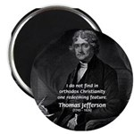 "President Thomas Jefferson 2.25"" Magnet (10 pack)"