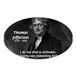 President Thomas Jefferson Oval Sticker
