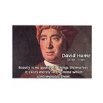 David Hume on Beauty Rectangle Magnet (10 pack)