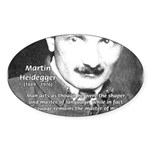 Man / Language: Heidegger Oval Sticker