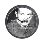 Man / Language: Heidegger Wall Clock