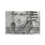 History Lessons Georg Hegel Rectangle Magnet (100