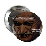 "Peace Activist Gandhi 2.25"" Button (10 pack)"