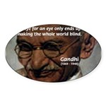 Peace Activist Gandhi Oval Sticker