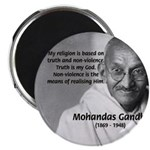 "Gandhi Religion Non-violence 2.25"" Magnet (100 pac"